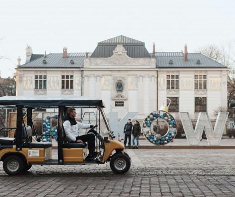 Zwiedzanie Krakowa elektrycznym pojazdem (Melex) 90 minut (3 Dzielnice) - najlepsza oferta dla 2-3 osób